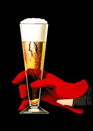 Vintage European Beer Poster