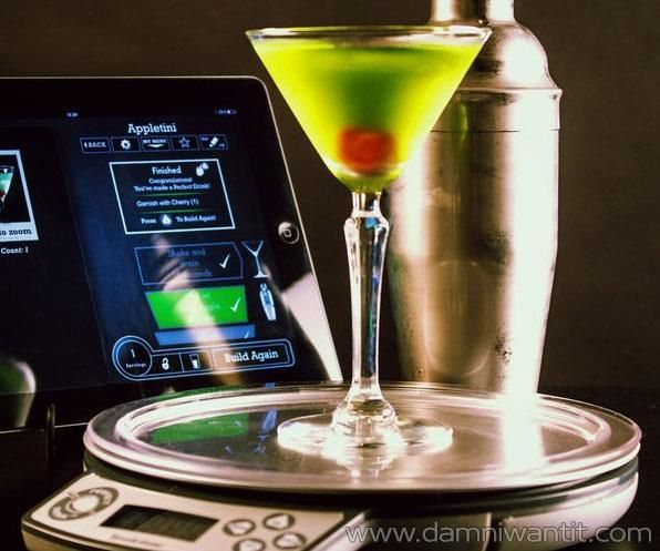 This amazing gadget is in fact a smart scale which is connected to any smart device via an app, and enables you to create the perfect drink without needing any sixth sense or massive bartendering experience. The app is showing a virtual glass on the screen and alerts you when you can stop pouring. This just can't get any easier. As the title says, get your own perfect drinks right now.