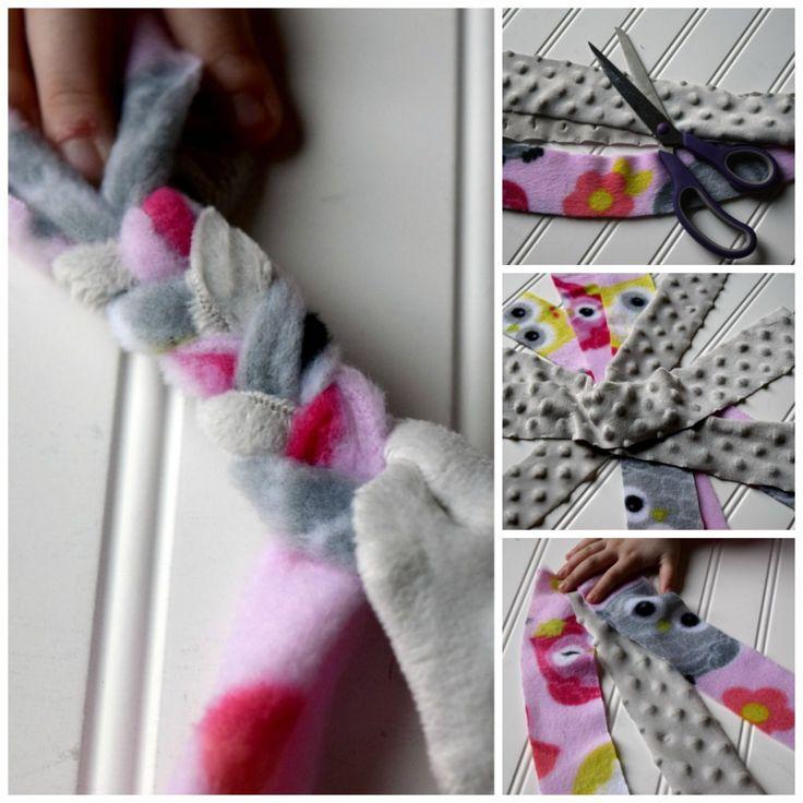 no sew fleece scarf instructions