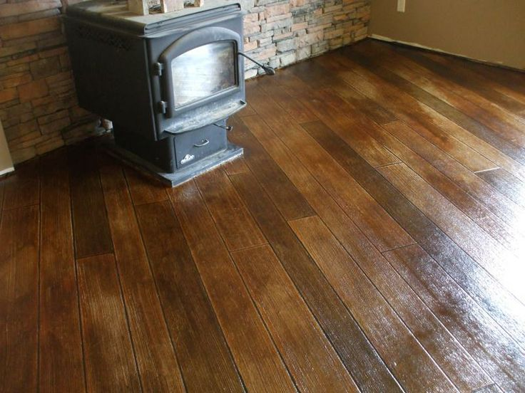 Concrete+wood+finish | Finished Picture Of Basement Floor With Our Hardwood  Texture