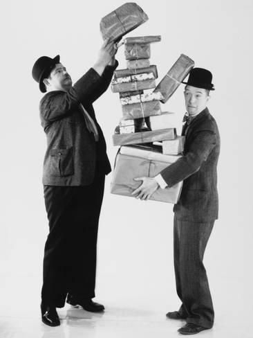 Oliver Hardy, Stan Laurel Fotografie-Druck