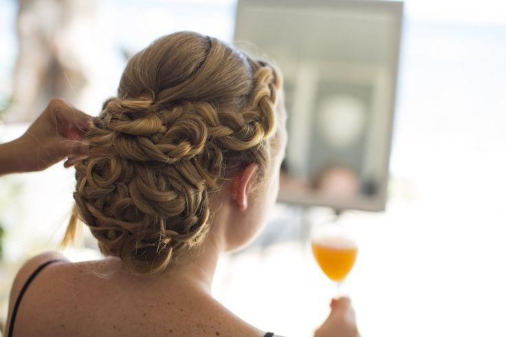 bridal up do for blond hair