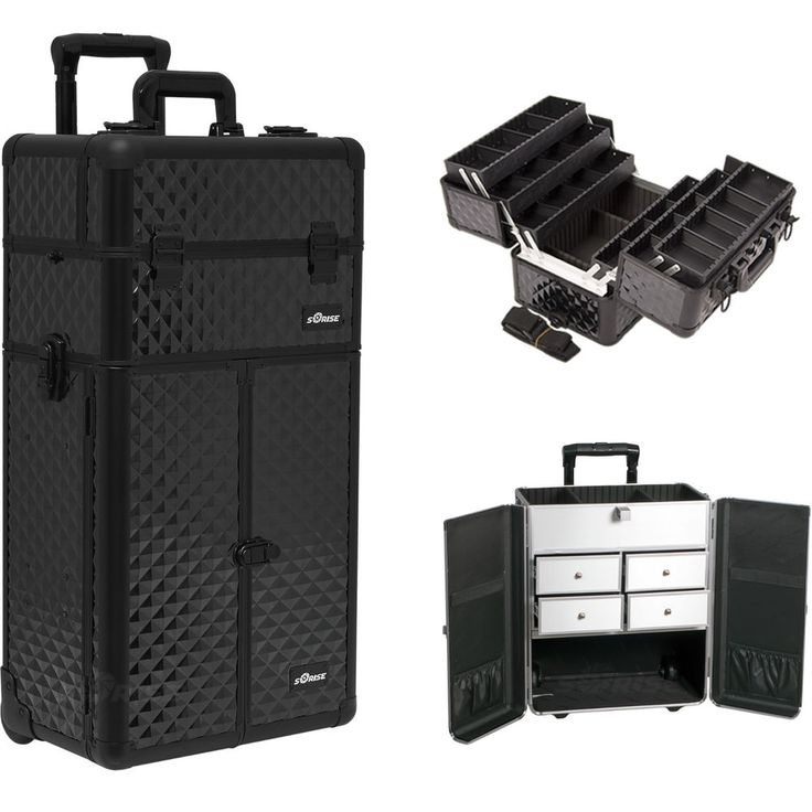 details about makeup storage box train make up cosmetic. Black Bedroom Furniture Sets. Home Design Ideas
