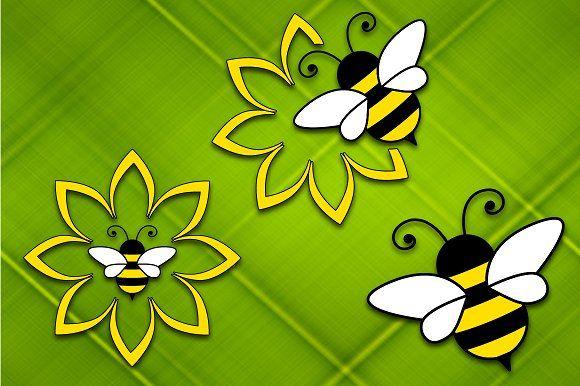 Bee on the flower by stockimagefolio on @creativemarket