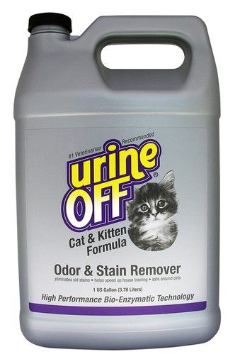 Urine Off Cat & Kitten Formula Bottle Odor and Stain Remover Elimination 1Gal