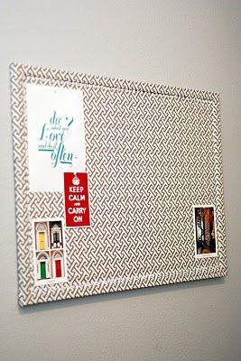 Fabric Covered Cork Boards, aka Inspiration Boards #BoardDudes #CorkBoard