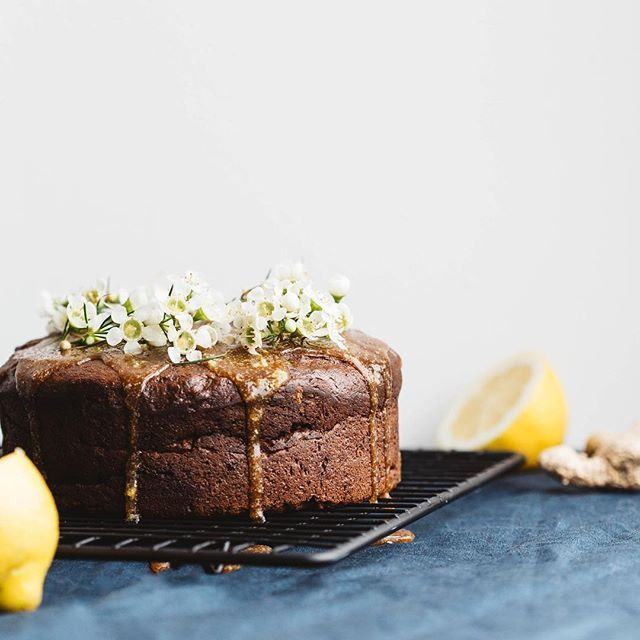 The Greenhouse Cookbook Sticky Ginger Cake with Lemon Sauce   Deliciously Ella