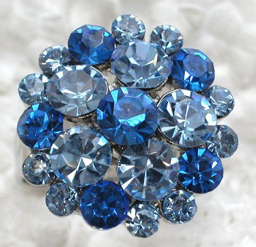 Сапфир кристалл горный хрусталь свадьба цветок кольца ювелирные изделия регулируемый кольца R072 B