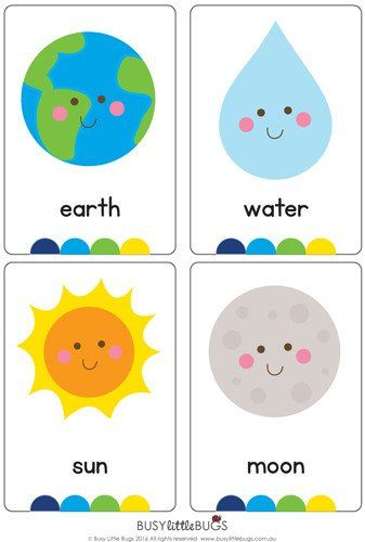 "Our ""My World Flash Cards"" are a great learning tool for your children to learn all about the different elements and features of our wonderful world, all with bright coloured images. There are 16 cards in this set."