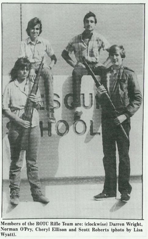 West Mesquite High School JROTC Rifle Team, 1984