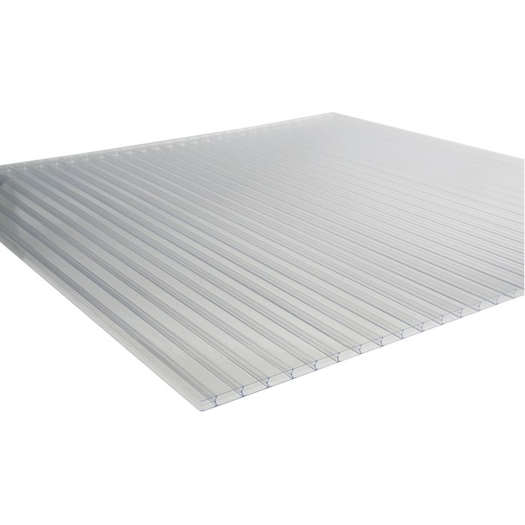 Triple Wall Polycarbonate Greenhouse Panels, 8mm Clear