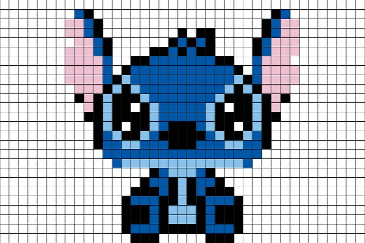 Stitch Disney Pixel Art Cilly Haas