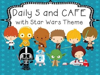 This package contains everything you need for using Daily 5 and CAFE in your classroom with a Star Wars theme!Pages 4-8 are the The students are The teacher is posters for implementing the program.Pages 9-13 are posters with each of the Daily 5 headings.