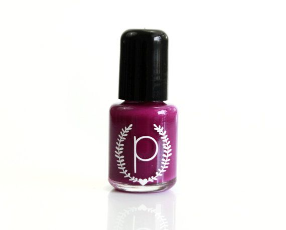 Purple Nail Polish  Bright Plum  Nail Polish  by ParloCosmetics