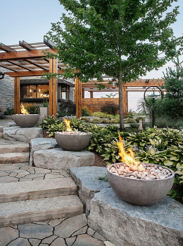 Broken Glass Fire Pit : Best images about concrete fire features on pinterest