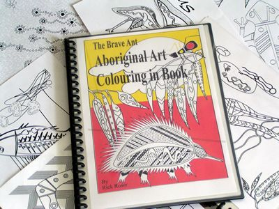 Aboriginal Dot Art Colouring Book and story of The Brave Ant - to purchase for kids