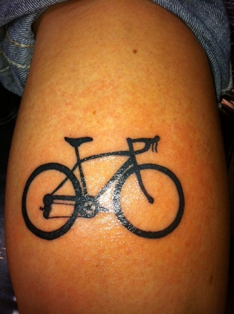 "This is the Tattoo of my bike that I want  on my left wrist with the word ""Freedom"" written under it in script.  Love it."