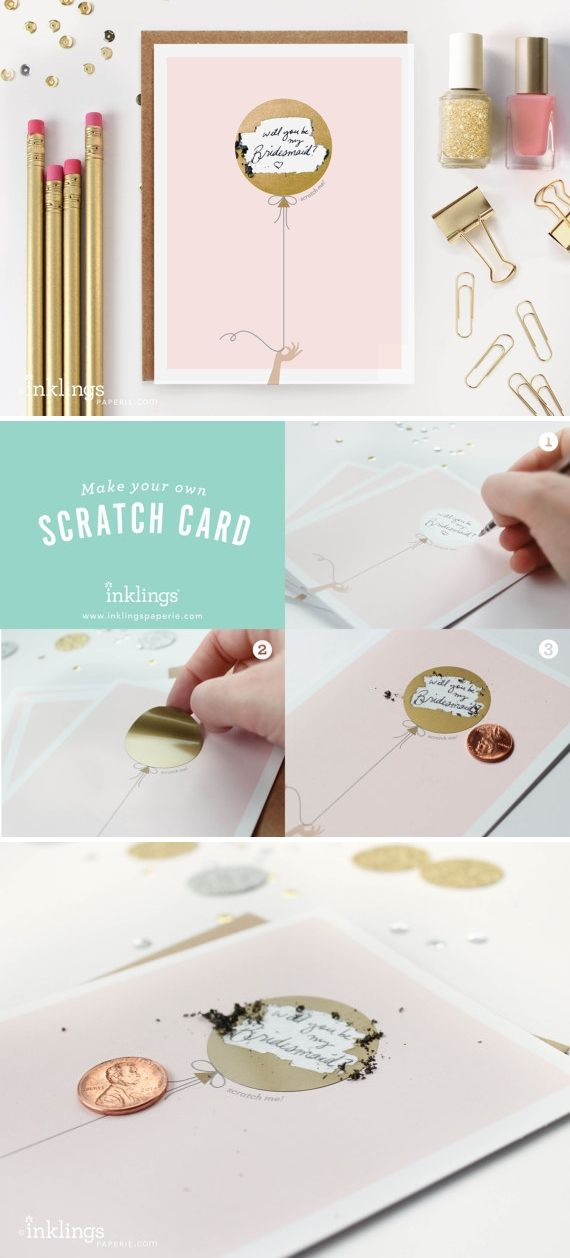 will you be my bridesmaid scratch card!