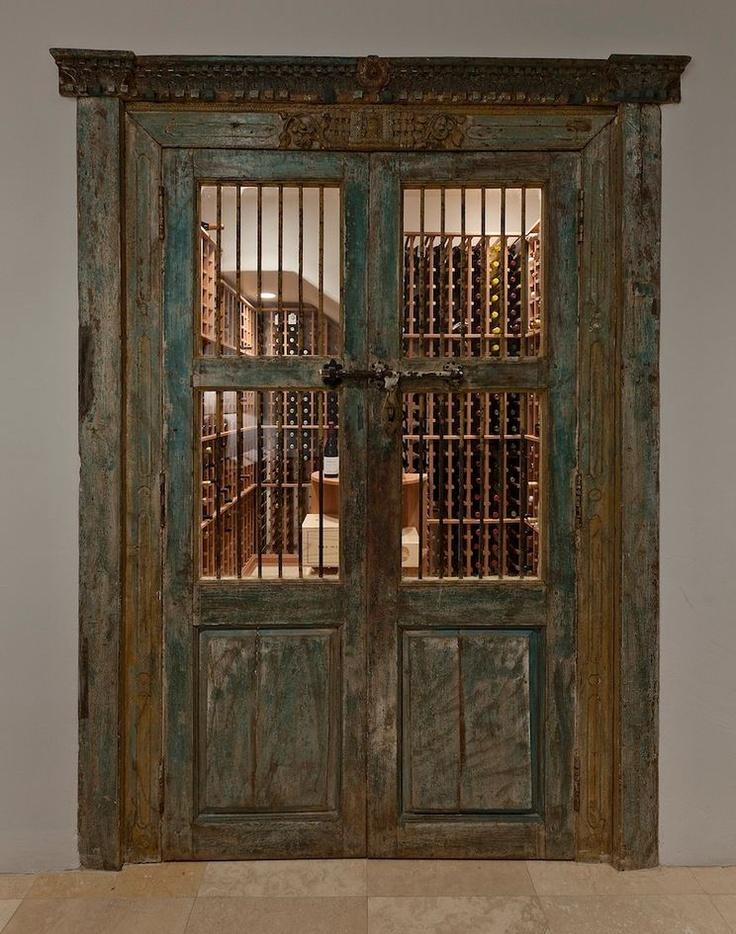Antique doors & 17 best Wine room doors images on Pinterest | Wine rooms Cellar ...