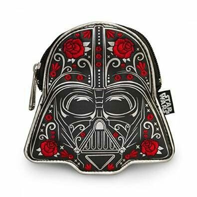Embroidered rose Darth Vader purse