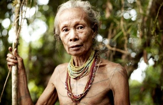 Mentawai Tribes woman, Indonesia: tattoo is a part of their cultural element...