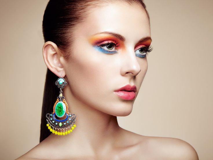 Фотография Portrait of beautiful young woman with earring. Jewelry and acce автор Oleg Gekman на 500px