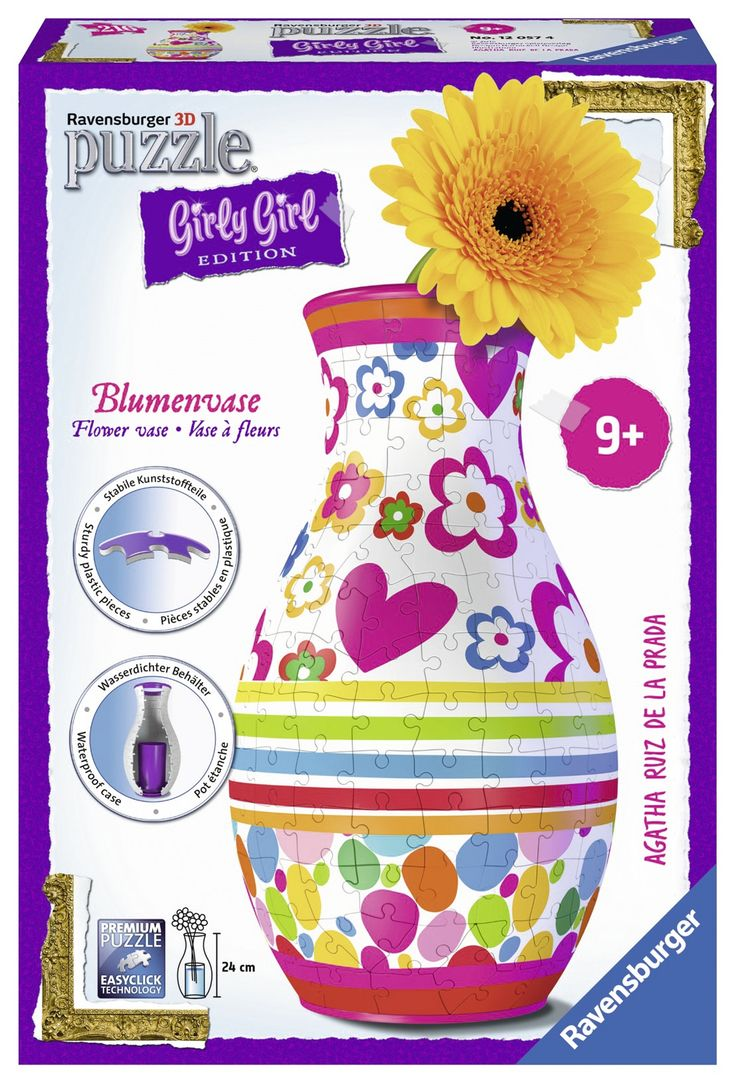 Puzzle Girly Girl Vase