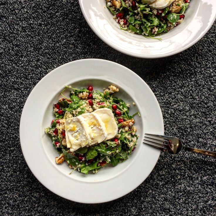 BULGUR SALAD WITH GRANATE APPLE, RUCOLA AND WALNUTS