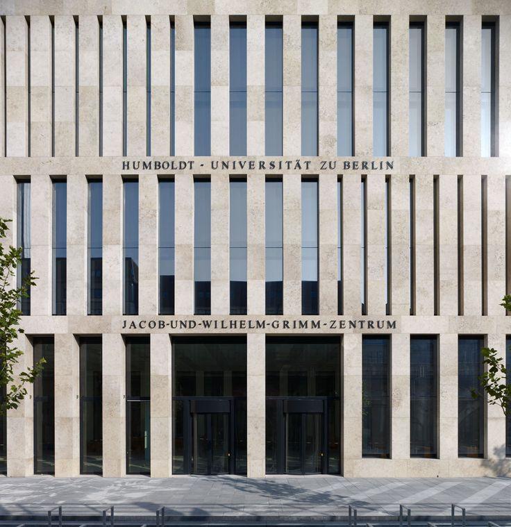 Max Dudler Architekt, Stefan Müller, George Messaritakis · Jacob and Wilhelm Grimm Centre · Divisare