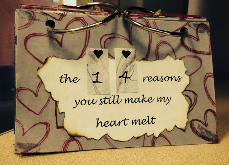 The 14 reasons you still make my heart melt..DIY valentines gift for him/her