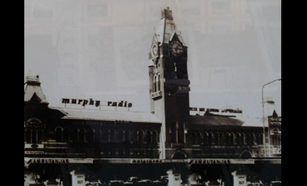 Hoardings of Murphy Radio and others on top of the Madras Central Railway Station. Radios were iconic pieces of equipments during the time, and Murphy was like the 'Apple' today.