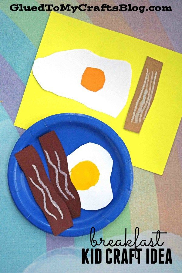 Paper Pretend Breakfast Kid Craft Idea For A Rainy Day Food