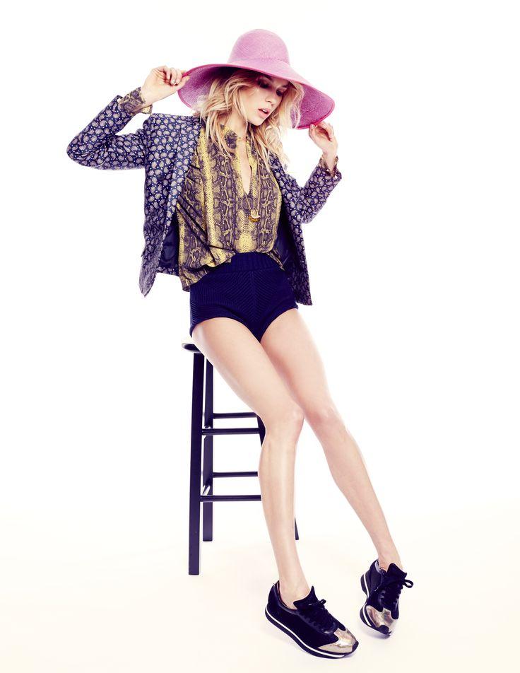Model Britt Maren Shows Off Summer's Boldest, Brightest Prints   StyleCaster