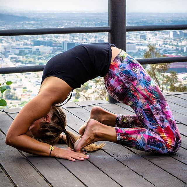 """is # LOVE - love of myself and love of others. The King Pigeon Pose is a backbend where we let go and trust the process of life.  It also opens our heart to new possibilities and the unlimited potential that lies within.  Let love lead the way."" - @alikathrine 