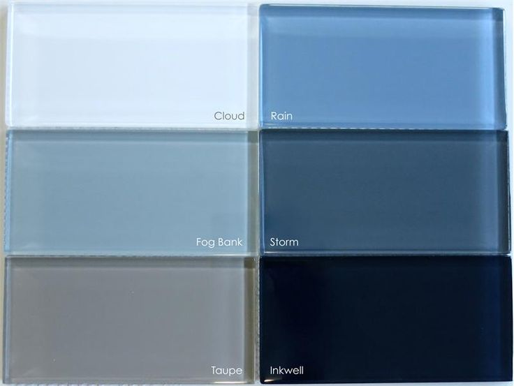 Blue Gray Gl Subway Tile In Rain Modwalls Lush 3x6