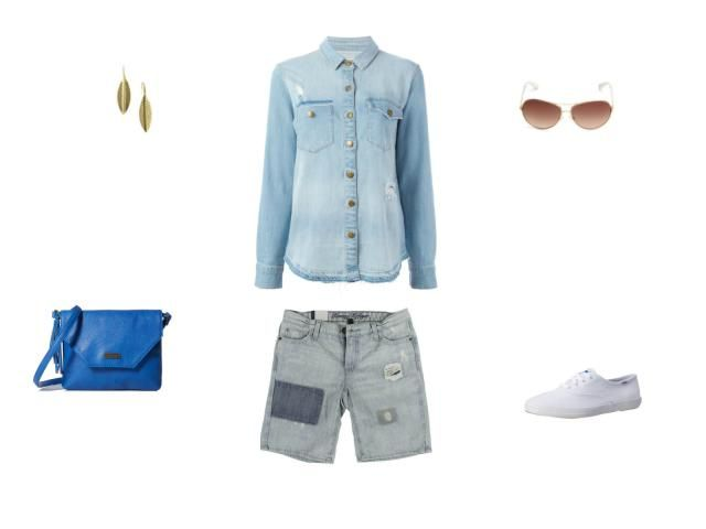 Style Tips - What to Wear With a Denim Shirt: Wear a Denim Shirt With Jean Shorts