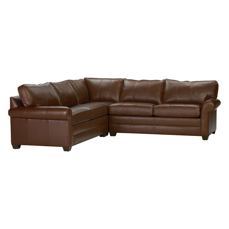Bennett Roll Arm Leather Sectional Devine Acorn Ethan