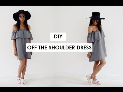 DIY, HOW TO MAKE A OFF THE SHOULDER DRESS, My Crafts and DIY Projects
