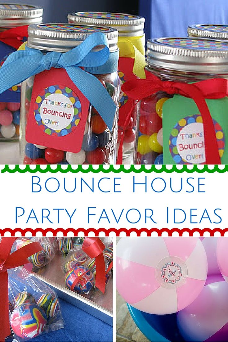 Find the best Bounce House party favor ideas here! If you or your child is celebrating their birthday party with a inflatable bounce house party then you will want to check out these party favor ideas. Have a fun bounce house inflatable party with some fun and unique party favor ideas! Easy Kids Birthday Party Favors!