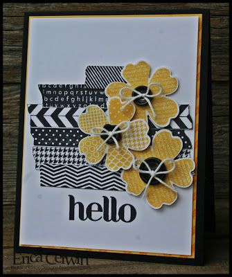 Stampin' Up Card by Erica C at Pink Buckaroo Designs: Tape It and Flower Shop