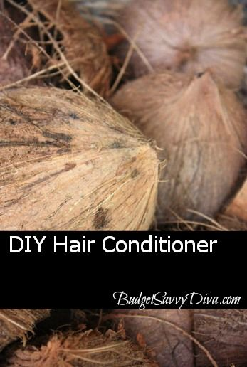 DIY Hair Conditioner ~ Make your own yummy smelling hair conditioner by mixing together 1 can of coconut milk, 1 tablespoon of honey, and 1 tablespoon of olive oil.