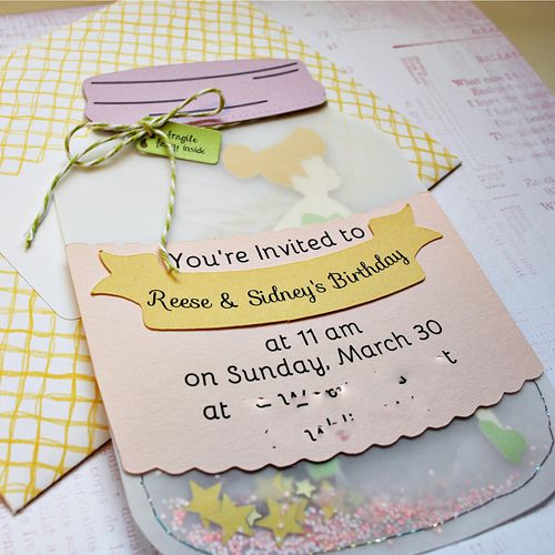 Tinkerbell Fairy Woodland Party Invitation