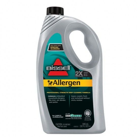 the bissell big green machine allergen formula removes allergens as you clean a fantastic addition