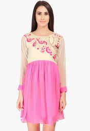 Admyrin Pink Embroidered Tunic Online Shopping Store
