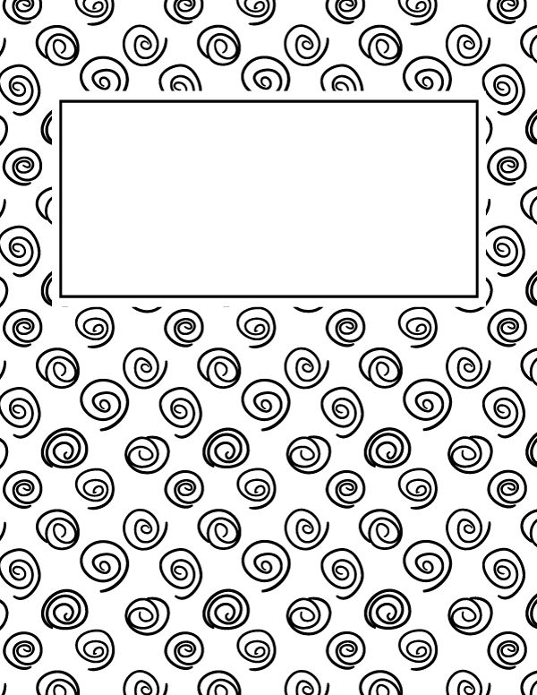 Free printable black and white spiral binder cover template. Download the cover in JPG or PDF format at http://bindercovers.net/download/black-and-white-spiral-binder-cover/