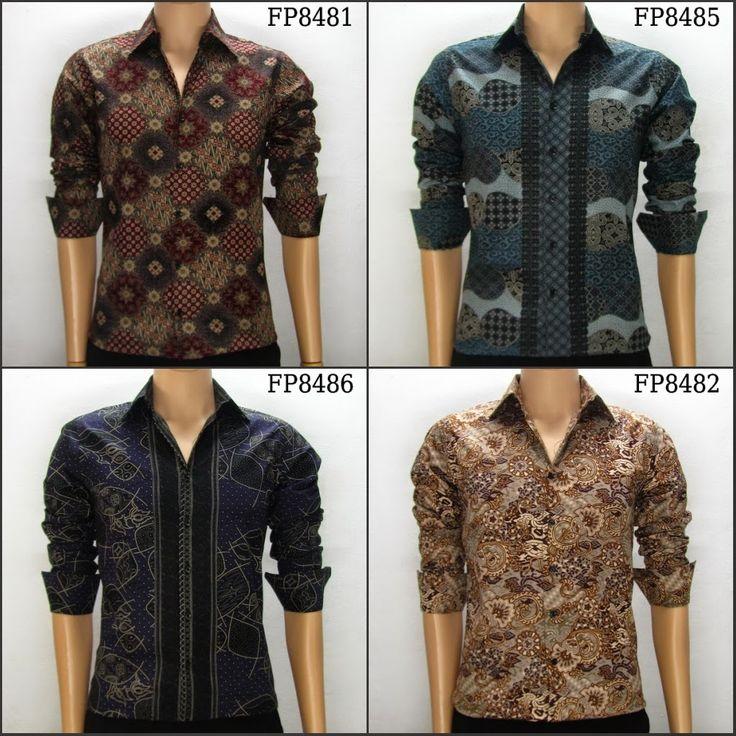 gambar baju atasan cowok  kombinasi  foto model  batik  pria