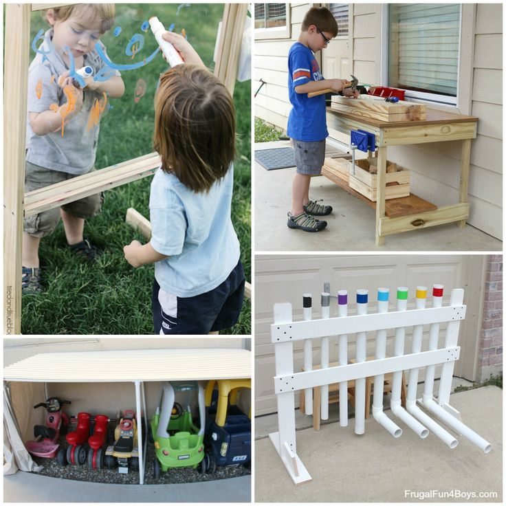 25 Awesome Backyard Play Spaces! Build climbing structures, toys, sand boxes, and more!