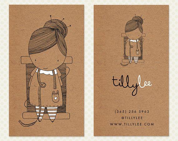 Diseño de tarjeta de negocio de costurera. por CrookedLittlePixel