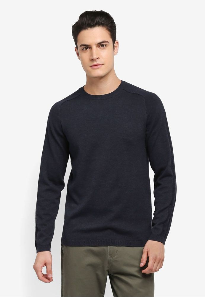 Natan Crew Neck Pullover from Selected Homme in blue 1   DT Wardrobe    Pinterest   Pullover 13eb9426b5