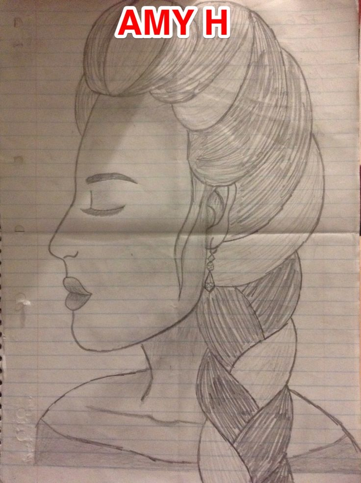 Realistic face sketch with grey lead pencil